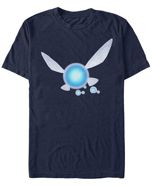 Fifth Sun Nintendo Men's Zelda Ocarina of Time Navi Logo Short Sleeve T-Shirt