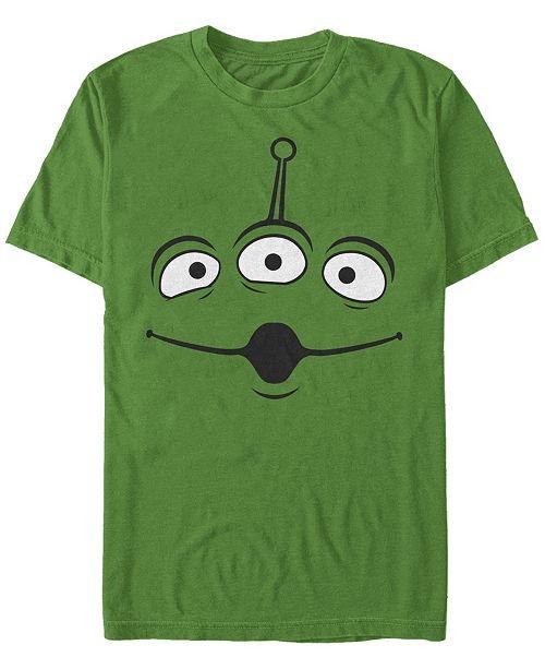 Fifth Sun Disney Pixar Men's Toy Story Alien Big Face Costume Short Sleeve T-Shirt