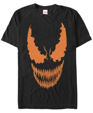 Marvel Men's Venom Halloween Pumpkin Big Face Costume Short Sleeve T-Shirt