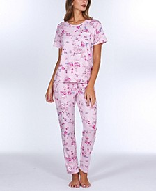 Geneva Printed Knit Pajama Set
