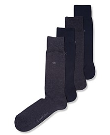 Men's Socks, 4 Pack Solid
