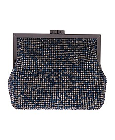 Multi Crystal Pouch Clutch
