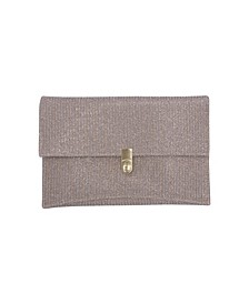 Sparkle Jacquard Envelope with Turn Lock Closure