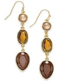 Linear Triple Drop Earrings, Created For Macy's