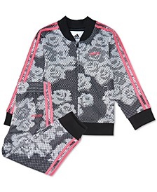 Baby Girls 2-Pc. Floral-Print Track Jacket & Pants Set