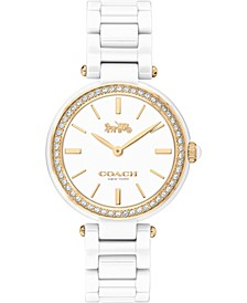 Women's Park White Ceramic Bracelet Watch 30mm