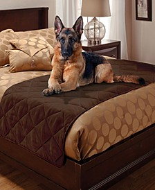 Pet Pals Quilted Faux Suede King Bed Protector