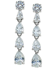 Cubic Zirconia Drop Earrings in Sterling Silver, Created For Macy's