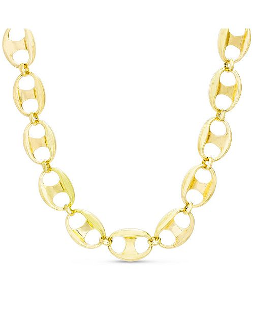 Steve Madden Mariner Chain Necklace in Yellow Goldtone Alloy