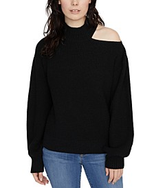 Cold Shoulder Crewneck Sweater