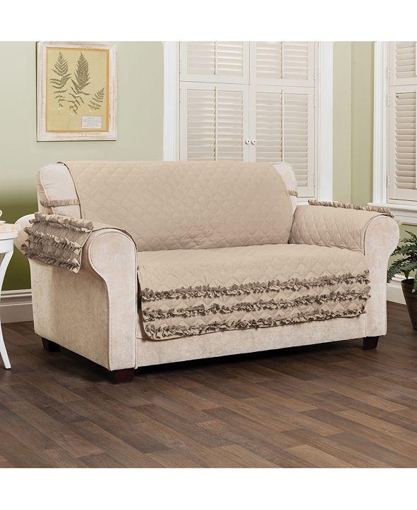 P/Kaufmann Home Claremont Ruffled Loveset Furniture Cover