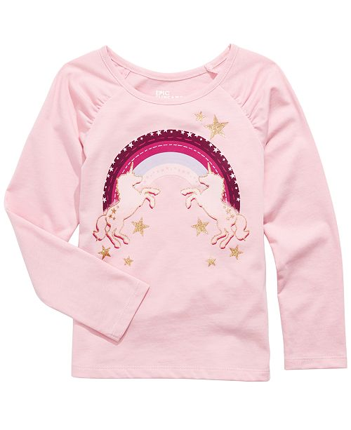 Epic Threads Toddler Girls Rainbow Unicorns T-Shirt, Created For Macy's