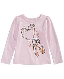 Little Girls Ballet Slippers T-Shirt, Created For Macy's