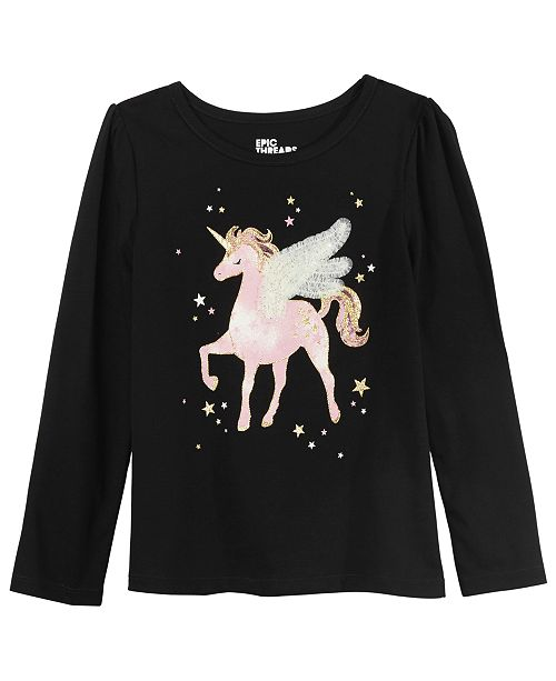 Epic Threads Toddler Girls Winged Unicorn T-Shirt, Created For Macy's
