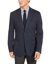 Men's Slim-Fit Navy Blue Knit Sport Coat, Created for Macy's