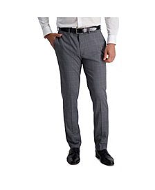 Louis Raphael Stretch Windowpane Slim Fit Flat Front Suit Separate Pant
