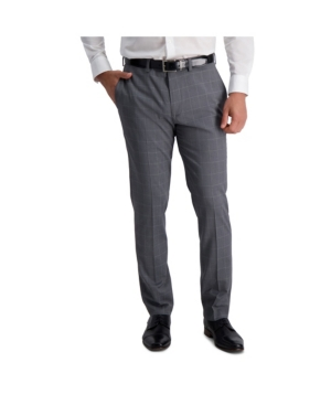 Stretch Windowpane Slim Fit Flat Front Suit Separate Pant