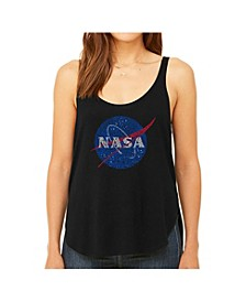Women's Premium Word Art Flowy Tank Top- Nasa's Most Notable Missions