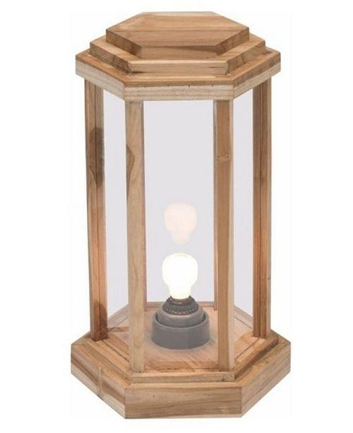My Zen Home Laterne Teak Wood Lamp - Small