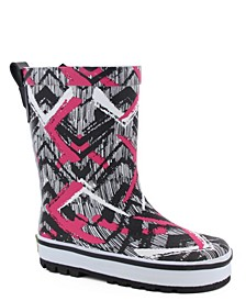 Youth Toddler, Little Girl's and Big Girl's Tribal Idol Rain Boot