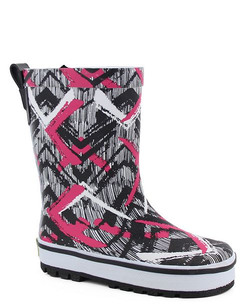 Western Chief Youth Toddler, Little Girl's and Big Girl's Tribal Idol Rain Boot