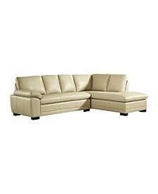 Ash Leather Sectional Sofa