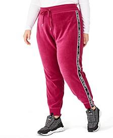 Plus Size Logo Jogging Pants