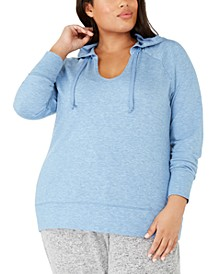 Plus Size V-Neck Hoodie, Created For Macy's