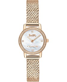 Women's Audrey Carnation Gold-Tone Stainless Steel Mesh Bracelet Watch 22mm