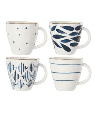 Blue Bay Set/4 Assorted Dessert Mugs