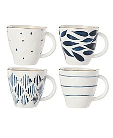 Blue Bay Set/4 Assorted Dessert Mugs