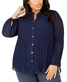 Plus Size Pleated Completer, Created For Macy's