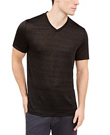 Men's Crinkle Textured V-Neck T-Shirt, Created For Macy's