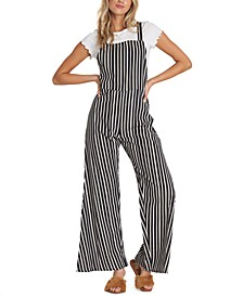 Still Here Striped Overalls
