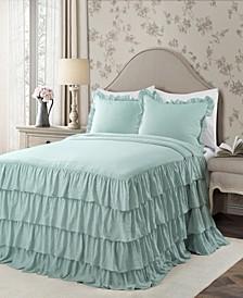 Allison Ruffle 2-Piece Twin XL Bedspread Set