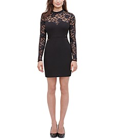 Lace Illusion Sheath Dress