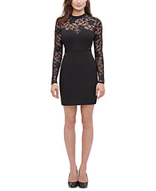 GUESS Lace Illusion Sheath Dress