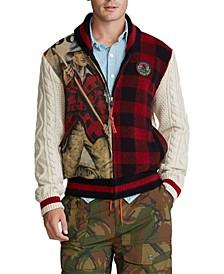 Men's Sportsman Patchwork Wool Blend Cardigan