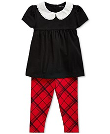 Baby Girls Top & Tartan Legging Set