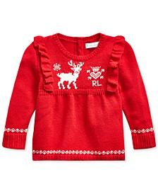 Baby Girls Pointelle & Cable-Knit Sweater