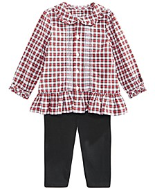 Baby Girls Tartan Shirt & Legging Set