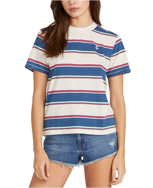 Volcom Juniors' Laney Striped T-Shirt