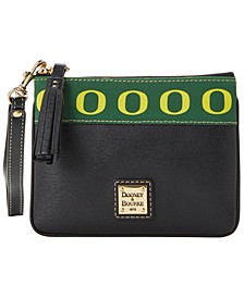 Oregon Ducks Saffiano Stadium Zip Wristlet