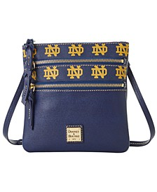 Notre Dame Fighting Irish Saffiano Triple Zip Crossbody
