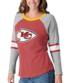 Women's Kansas City Chiefs Long Sleeve Top Pick T-Shirt