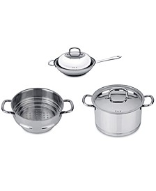 Collect'N'Cook Stainless Steel 5-Pc. Vegetable Stir-Fry Cookware Set