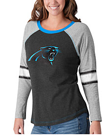 G-III Sports Women's Carolina Panthers Long Sleeve Top Pick T-Shirt