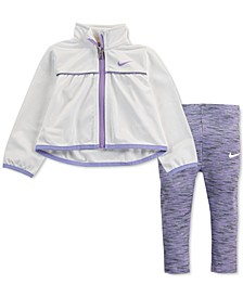 Baby Girls 2-Pc. Zip-Up Jacket & Leggings Set