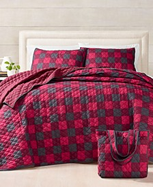 Buffalo Check Essential Quilt Bag Sets, Created For Macy's