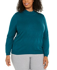 Plus Size Classics Mock-Neck Sweater